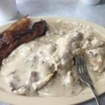 Biscuits and Gravy with bacon