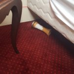 Bed collapsed on inspection the leg had fallen off