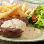 Steak a la sauce Poivre..YUMMYYYYyyyy