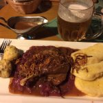 Czech duck with dumplings