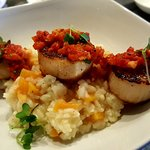Pan Seared Scallops with Butternut Squash Risotto