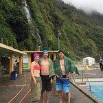 After a hot soak at the falls de la Virgen