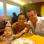 Remi & her parents celebrating her 1st birthday. Wishing many more amazing years ahead.From your