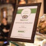 TripAdvisor Certificate of Excellence.