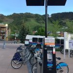 downtown multi-modal transit station with bus, bike and gondola is 7 blocks from hotel
