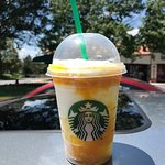 mango pineapple frapp made with almond milk, yummy!