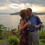 My Grandparents with the incredible view in the background