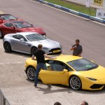 Getting out after 5 laps in a Lambo Hurricane
