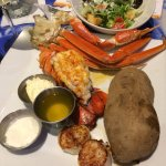 Crab, lobster and scallops