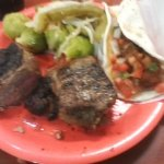 Steak, Shrimp Tacos as well as Brussel Sprouts and Muchrooms