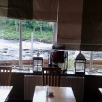 Middle of restaurant view