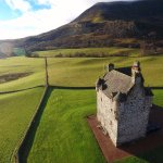 Aerial view of Forter Castle