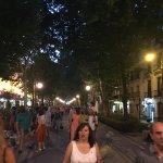 live at night downtown Granada