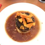 Haggis and black pudding starter - highly recommended!