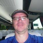 Selfie on the tour bus