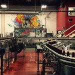 Bottling line and classic Lagunitas art