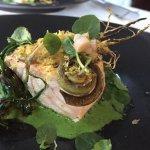 Creative salmon dish.