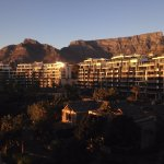 Sunrise view of Table Mountain from the room