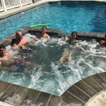 Hot tub in the pool at the Seaward
