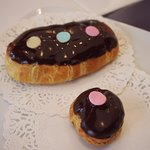 Chocolate eclairs, the best (chocolate inside!)