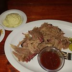 Brisket and Pulled Pork Plate