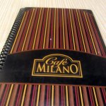 Menu, Cafe Milano, Peppermill, West Wendover, NV