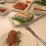 Various types of spring rolls