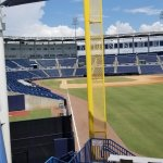 View from behind right field foul pole