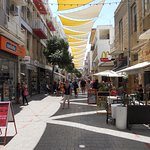 June 2017: Nicosia, main tourist street giving access to panoramic tower