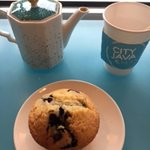 Tea and Blueberry Muffin
