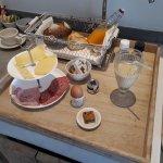 Breakfast - the bread was still warm....