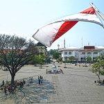 La plaza Fatahillah, desde el Museo de Historia de Yakarta