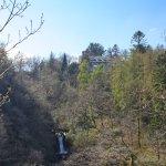 Waterfalls in front of Hafod