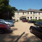 The view of the car park from the front gates