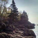 Our ledge rock shoreline