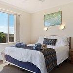 Main Bedroom with new King Coil Mattress, built in robes, en-suite, walk in shower, vanity & toi