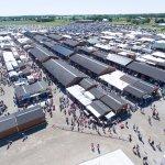 Aerial View of Flea Market
