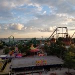 An evening view from the Ferris Wheel.