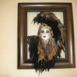 One of many masks throughout the B & B