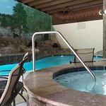 Enjoy our newly renovated indoor/outdoor pool, hottubs and slide!