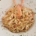 I strongly recommend this dish, green pasta with shrimps! You can't miss with this :)