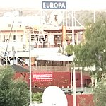 View from rear patio of the sunset, pool was empty (perfect)Europa shopping centre 2 mins, view