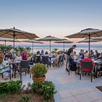Evening dining on ECHO's oceanfront patio