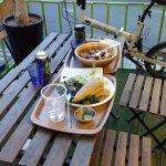 Food, patio, indoors