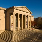 The Baltimore Museum of Art's historic entrance designed by American architect John Russell Pope