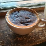 Delicious, hot coffee with a cinnamon topping twist