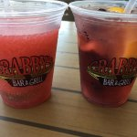Frozen strawberry margarita and Berry Bliss