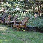 Outside garden seating