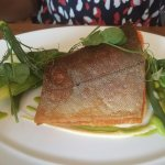 Crispy Arctic Char with summer vegetables and sauce bearnaise