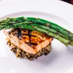 Molasses Glazed Grilled Salmon